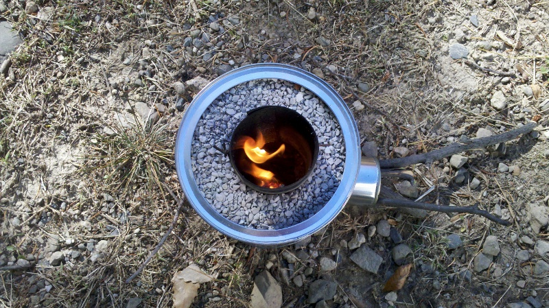 Homemade Rocket Stove Burning Test. Using My DIY Rocket Stove