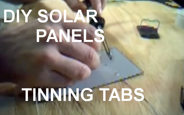 How to pre tin a solar cell for assembly into a full solar panel Part 2