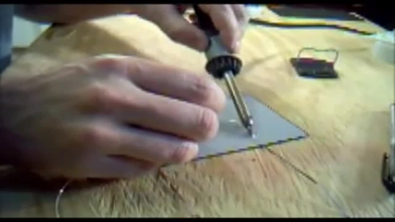 Tinning the back side of solar cells. How to make solar panels Part 3