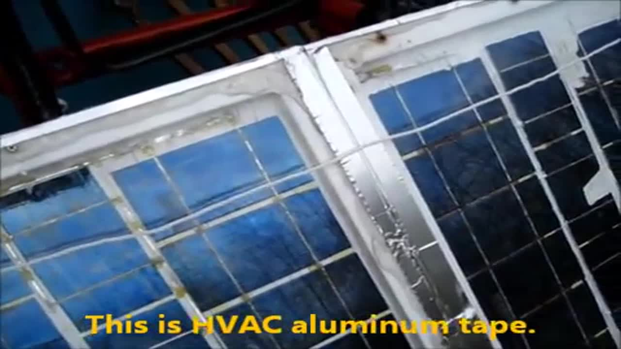 This is an old DIY solar panel that has been used and tested for years now.