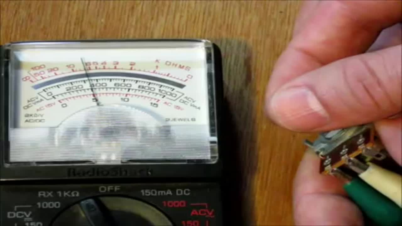 How to read resistance with an analog multimeter - ohmmeter