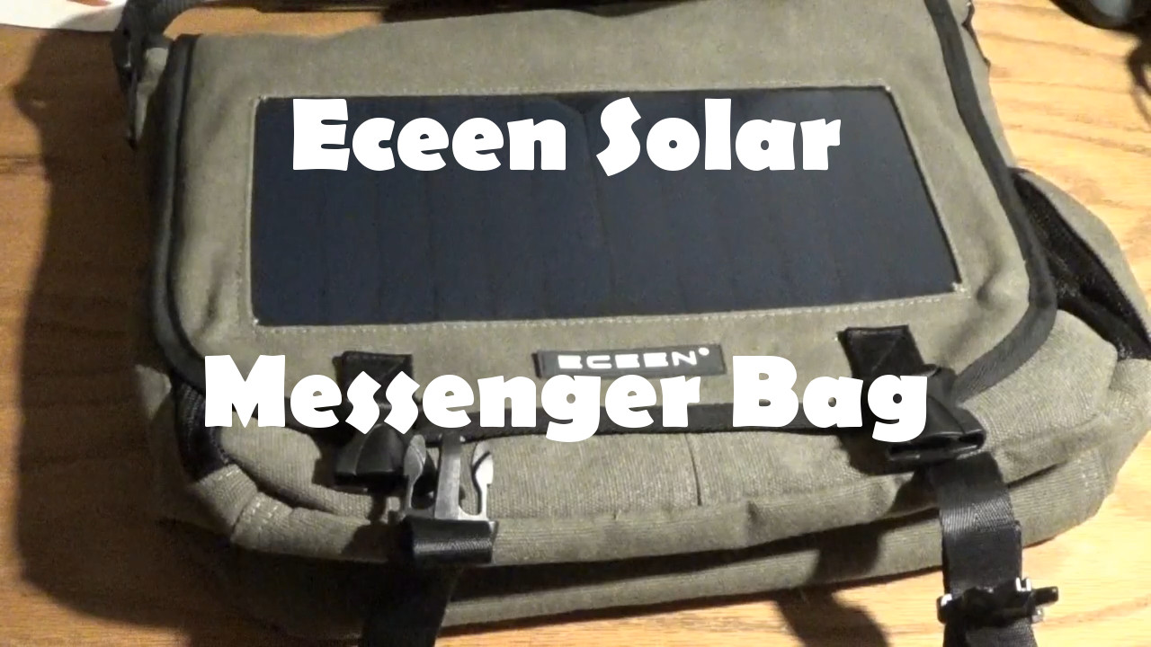 Eceen Solar Messenger Bag Charges Devices On The Go
