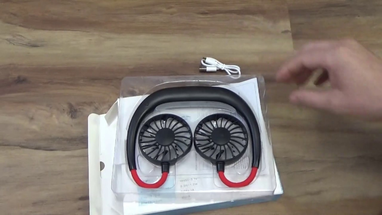 Wearable USB Sports Fan For Camping Hiking Survival Sports