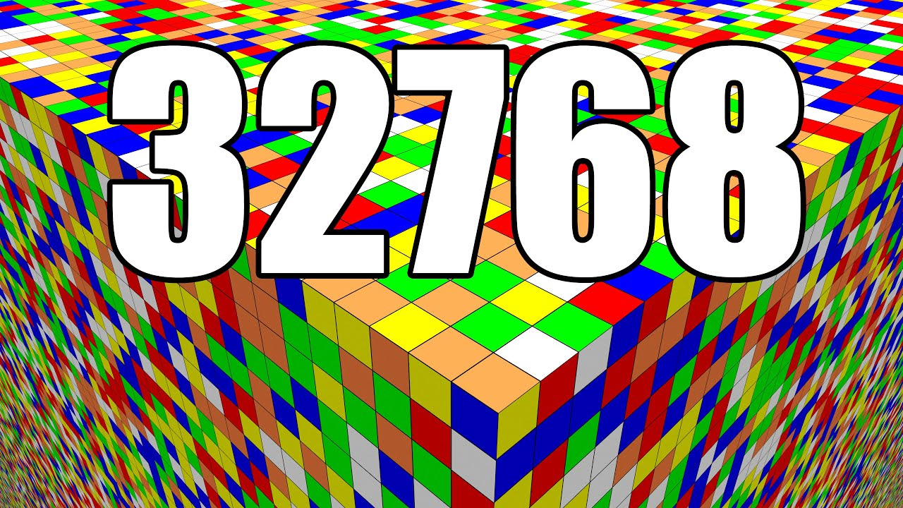Large Scale Rubik's Cube Simulation  - Solving 32768 Layers