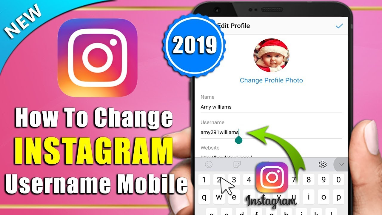 How To Change Instagram Username In Android Mobile Phone 2019 | Change Insta Username