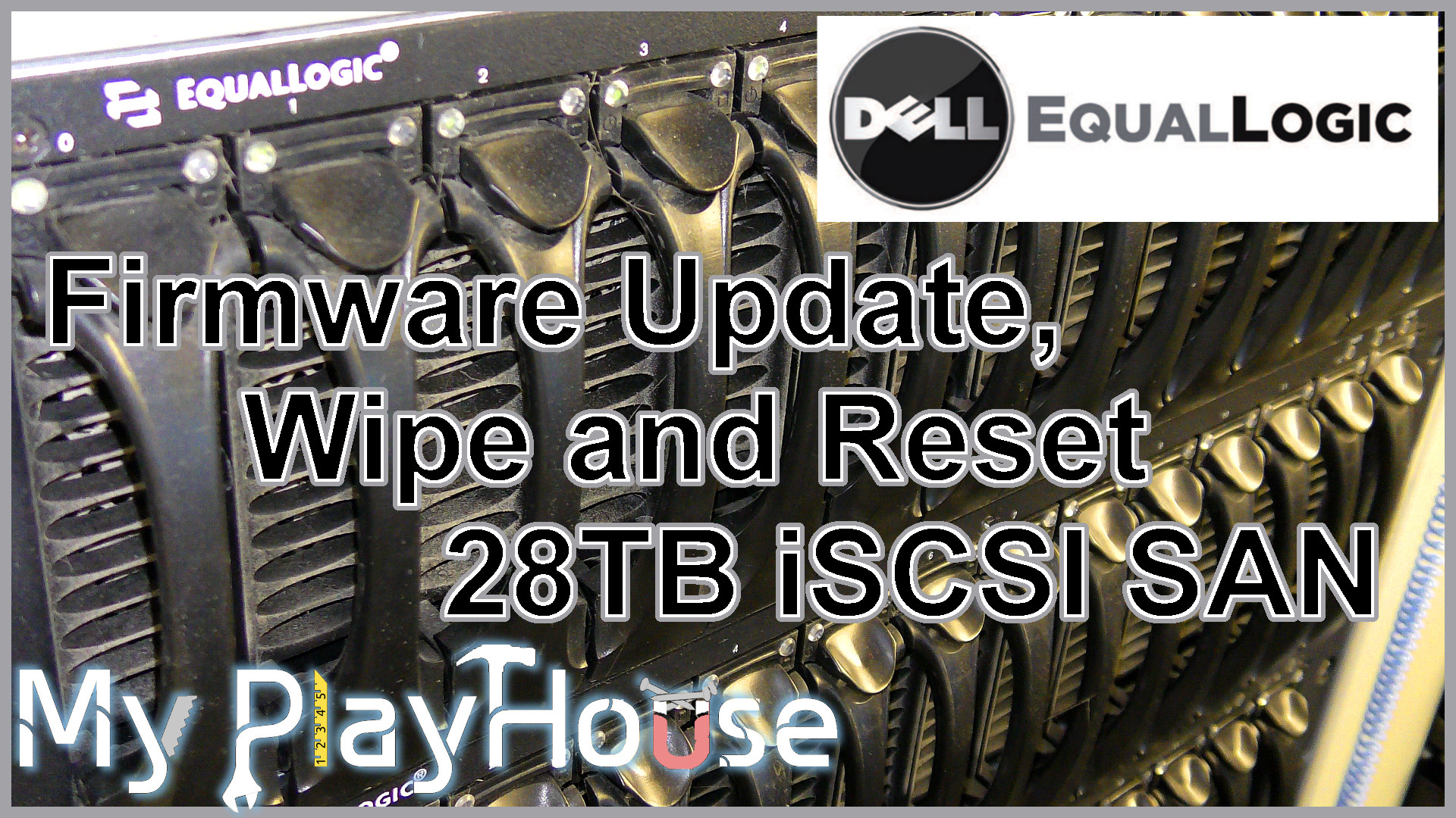 Dell EqualLogic - How to Firmware Update, Wipe and Reset - 737