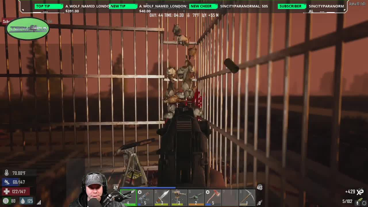 7dtd - Some bunny and chickens and Deadz's reaction