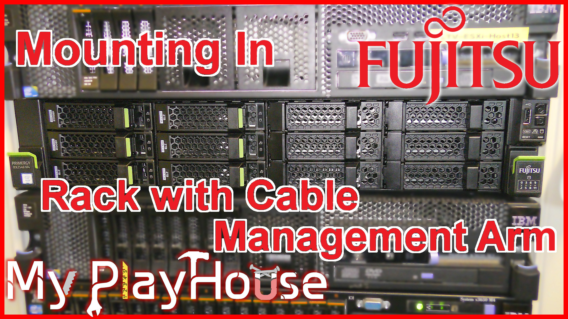 Step by Step Rack Mounting Fujitsu Server with CMA - 767