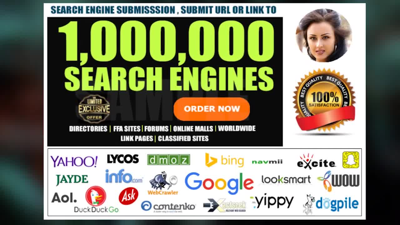 SEO Drive Website Traffic Submit Url To Google and 1,000,000 Search Engines