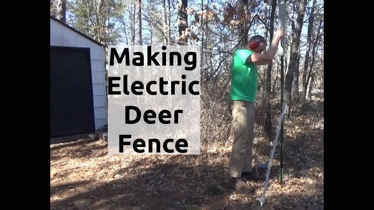 Working On Electric Fence To Stop Predators And Deer PT2