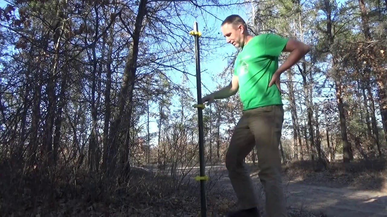 Working On Electric Fence To Stop Predators And Deer PT3
