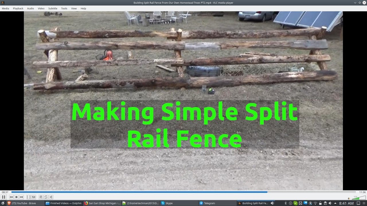 Building Split Rail Fence From Our Own Homestead Trees PT2